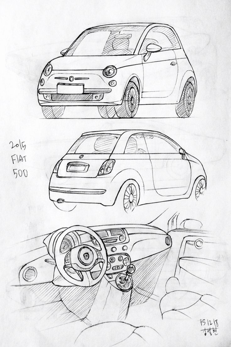 736x1105 Model Girl Sketch Drawing With Car