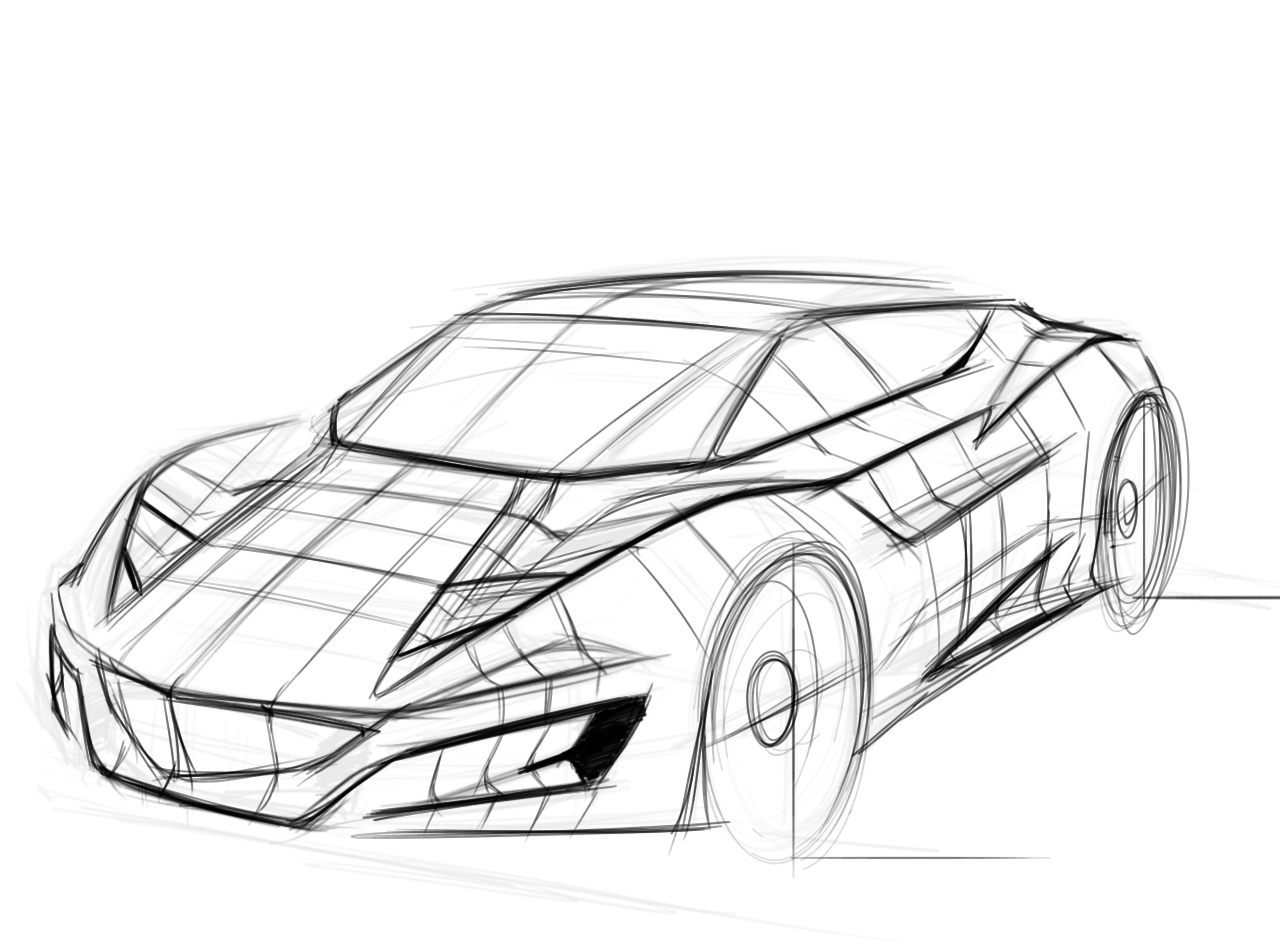 Car Perspective Drawing at GetDrawings.com | Free for ...