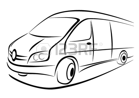 450x318 Design Of A White Van In Strong Perspective View Royalty Free