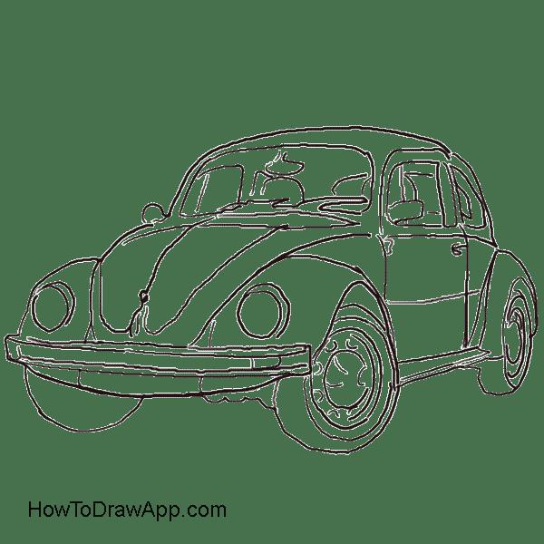 600x600 How To Draw A Volkswagen Beetle Aka Volkswagen Bug