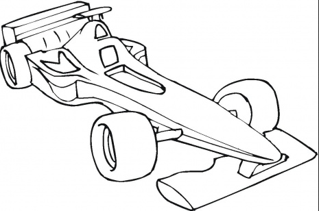 465x308 Formula One Car Coloring Page Amp Coloring Book