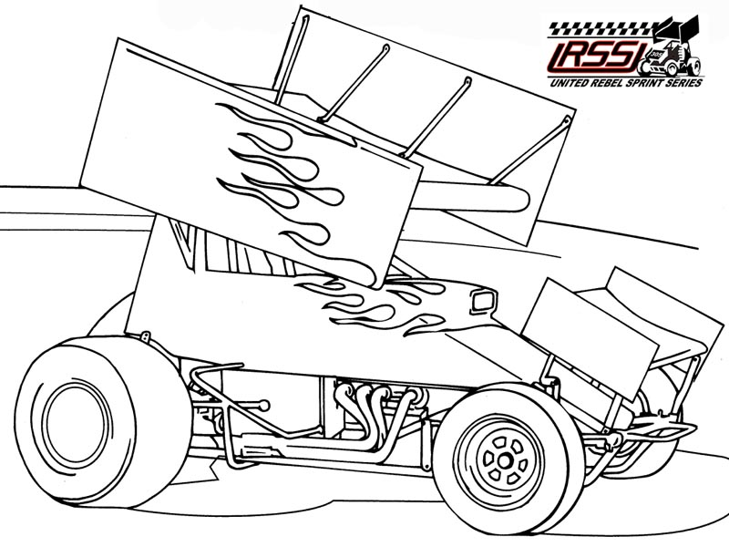 800x600 Printable Coloring Pages Of Sprint Cars Blank Sprint Car