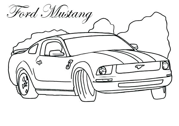 600x424 Beautiful Race Car Color Pages New Mustang Coloring Page Racing