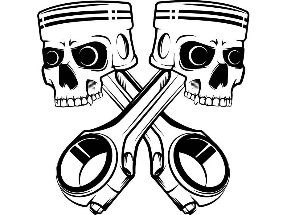 931x700 Mechanic Logo 11 Piston Skulls Crossed Engine Auto Car Part