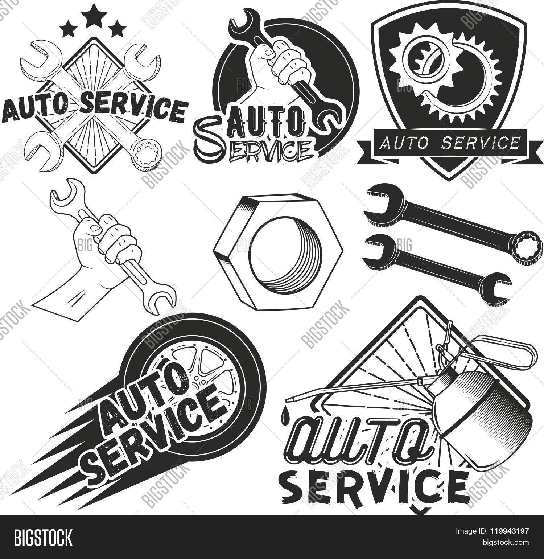 1500x1541 Vector Set Auto Service Labels Vector Amp Photo Bigstock