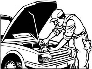 300x224 Car Repair Mechanic Colouring Pages Coloring Pages