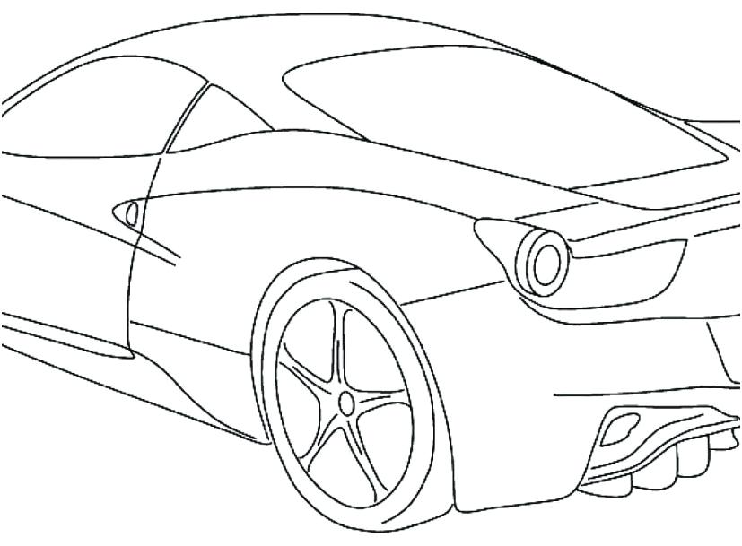 827x609 Sport Car Coloring Pages Sports Car Coloring Pages Sport Car