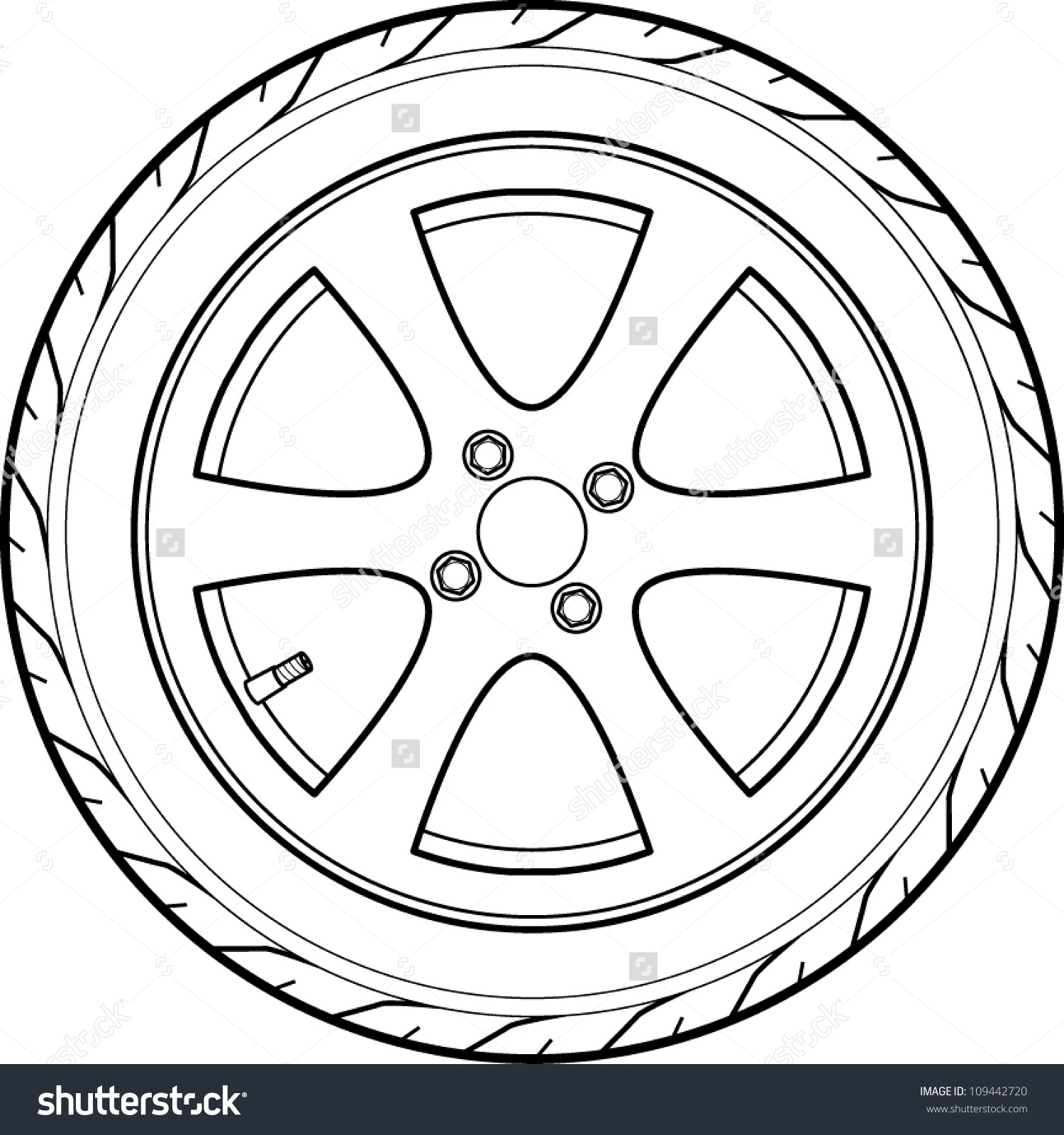 1500x1600 Tire Coloring Pages