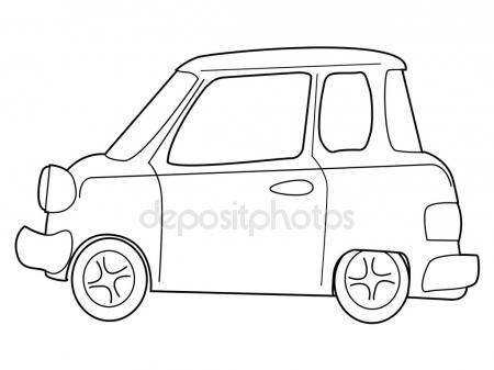 450x337 Retro Car, Side View Stock Vector Perysty