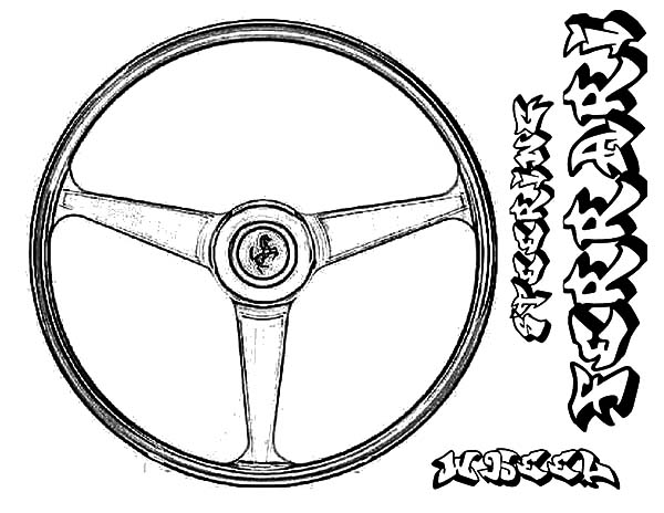 600x464 Ferrari Car Steering Wheel Parts Coloring Pages Best Place To Color
