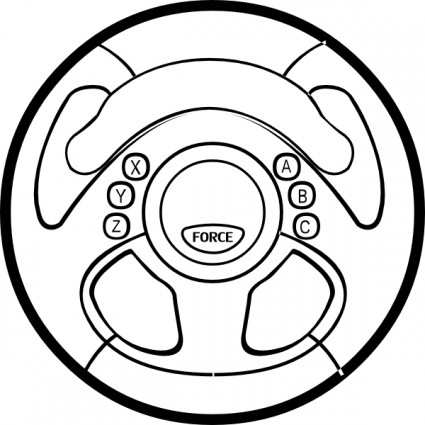425x425 Steering Wheel Clipart Clipart Panda