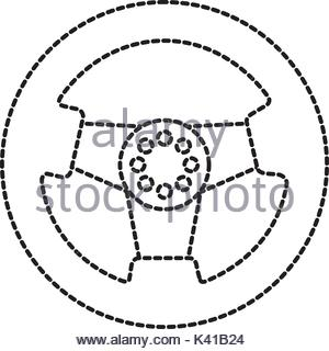 300x320 Car Steering Wheel Function Part Vehicle Icon Stock Vector Art