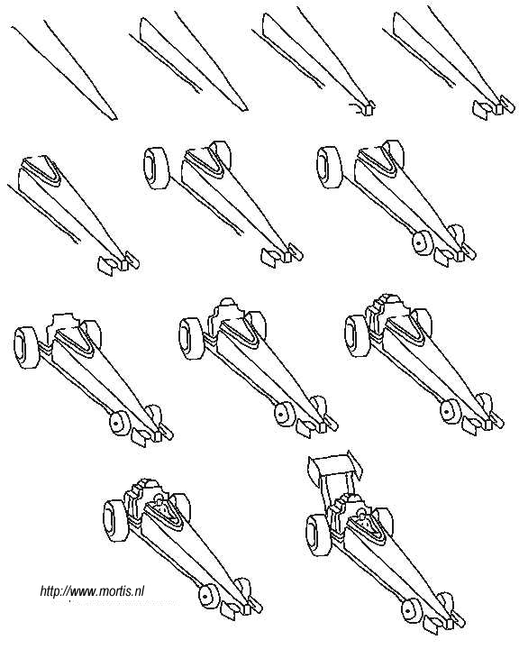 576x720 Formula 1 Car Drawing Teaching Art