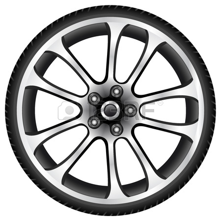 450x450 Car Wheel And Tyre Royalty Free Cliparts, Vectors, And Stock