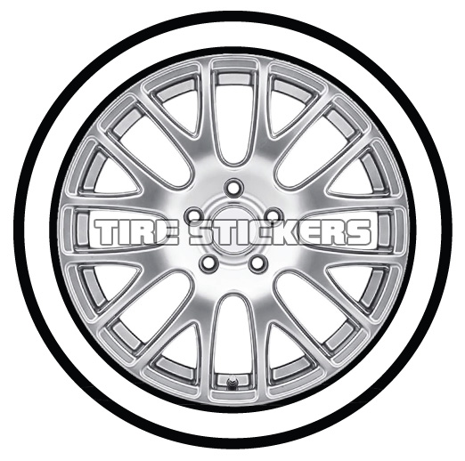 522x518 White Wall For Any Tire Tire Stickers