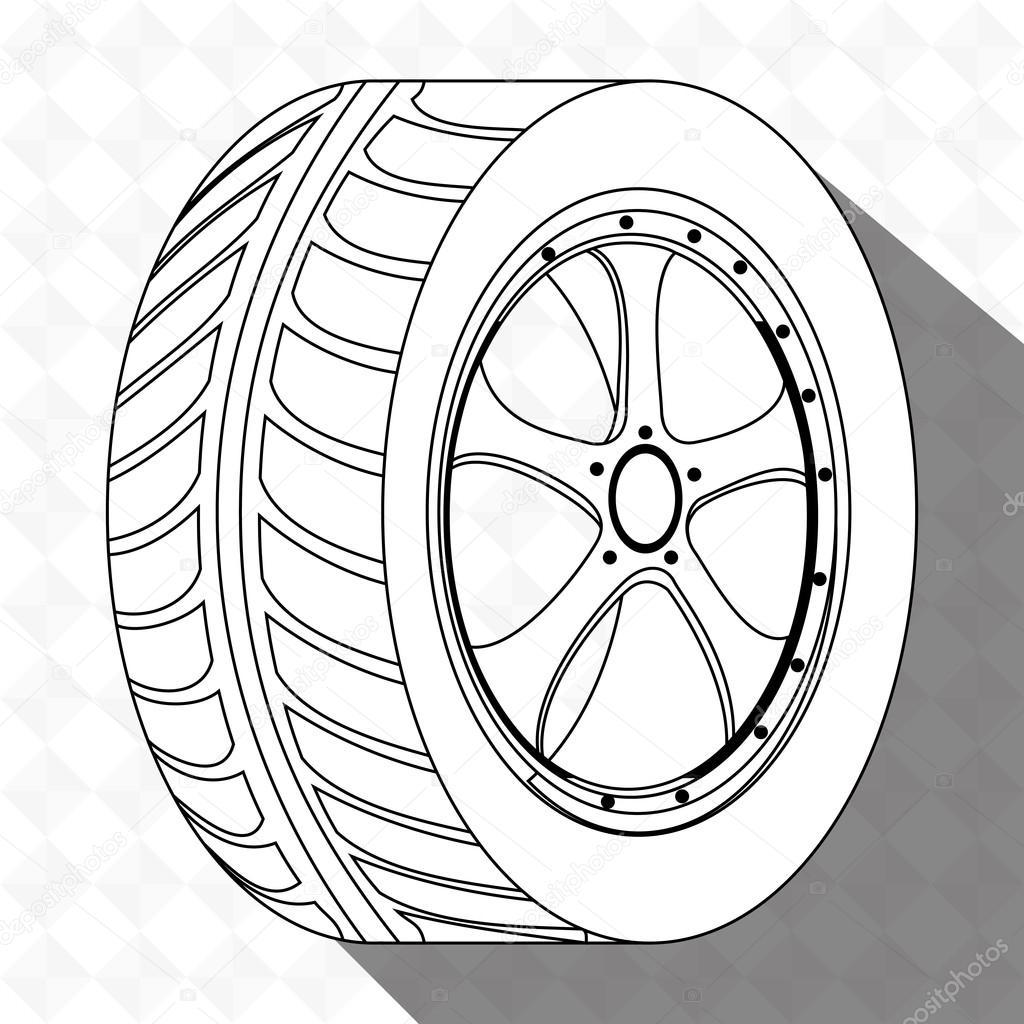1024x1024 Car Tires Design Stock Vector Yupiramos