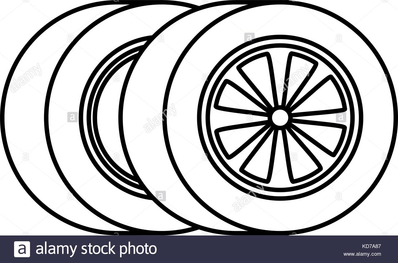 1300x860 Car Tires Isolated Icon Vector Illustration Design Stock Vector