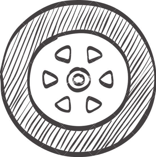 546x550 Car Tire Doodle