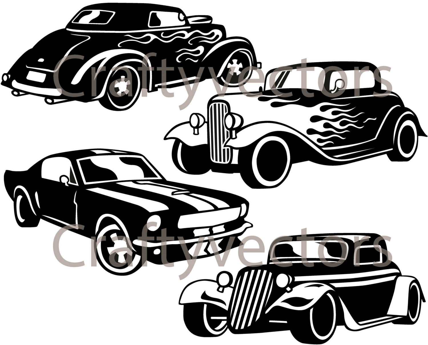 1500x1211 Hot Rod Cars Svg Vector Files