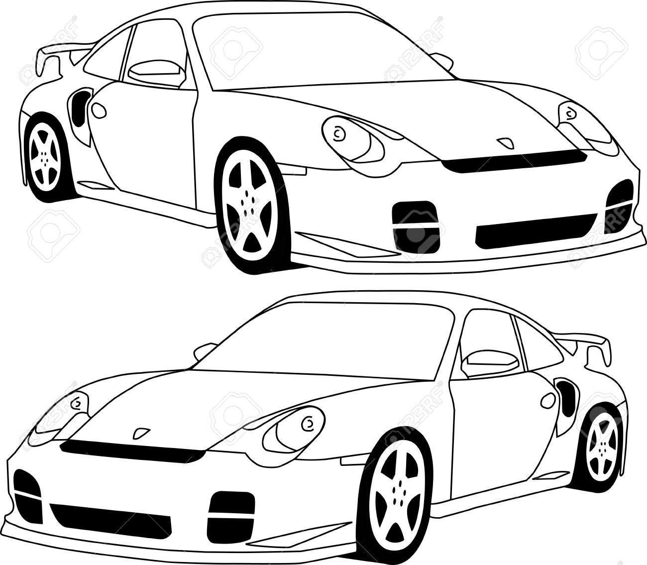 1300x1135 911 Porsche Royalty Free Cliparts, Vectors, And Stock Illustration