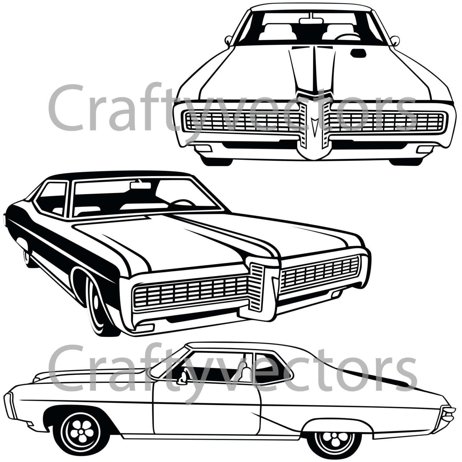 1500x1500 Pontiac Grand Prix 1968 Car Vector File