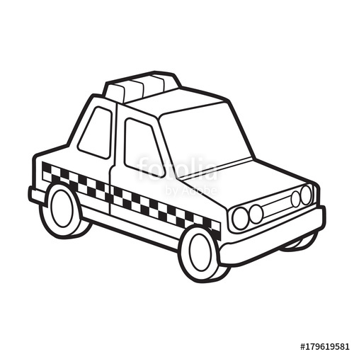 500x500 Cute Police Car Vector Cartoon Stock Image And Royalty Free