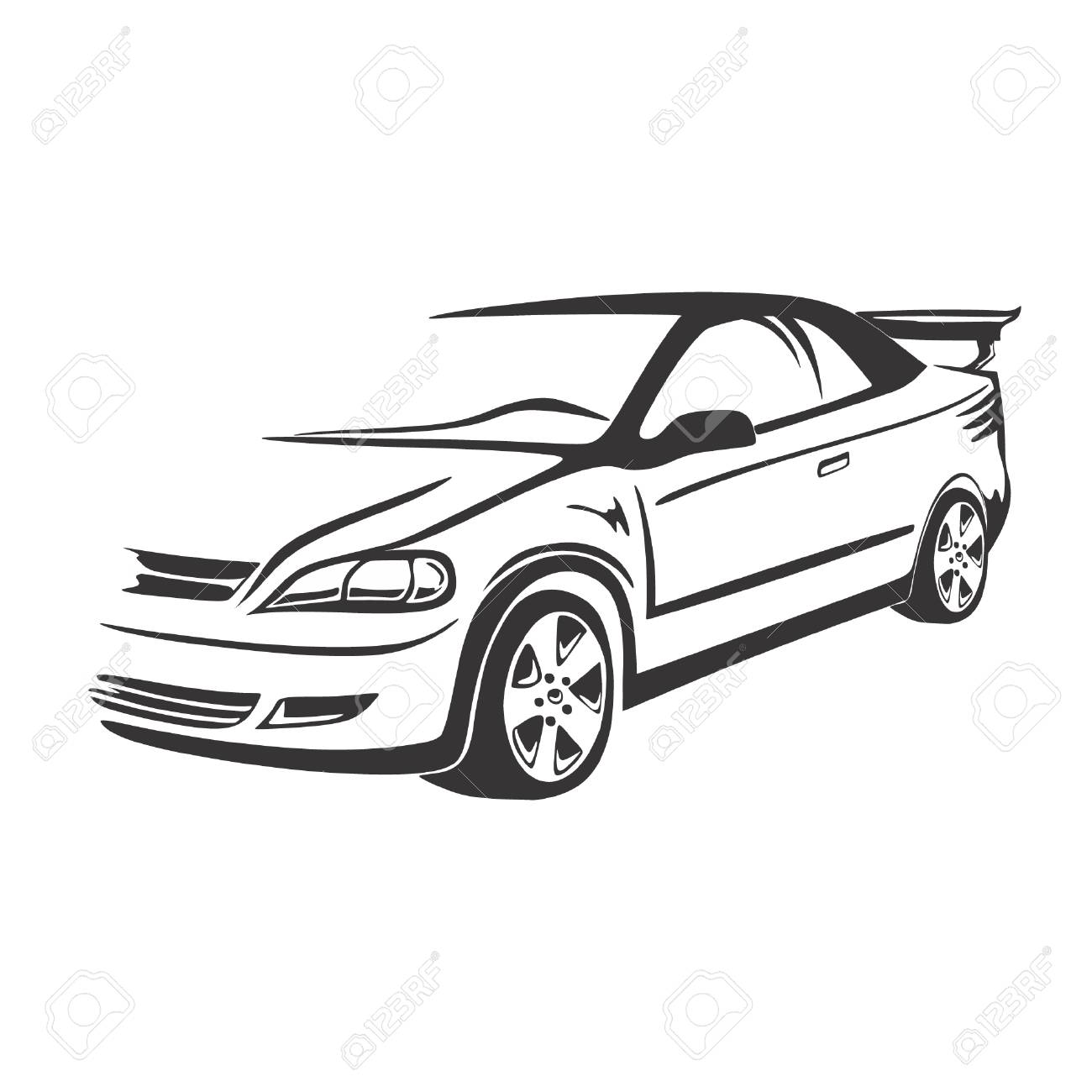 1300x1300 Car Vector Royalty Free Cliparts, Vectors, And Stock Illustration