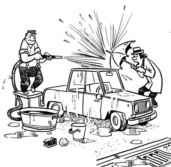 coloring pages carwash - photo#20