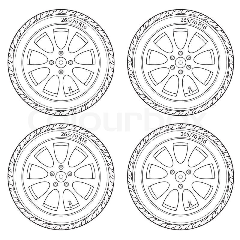 Car Wheel Drawing at GetDrawings.com | Free for personal use Car ...