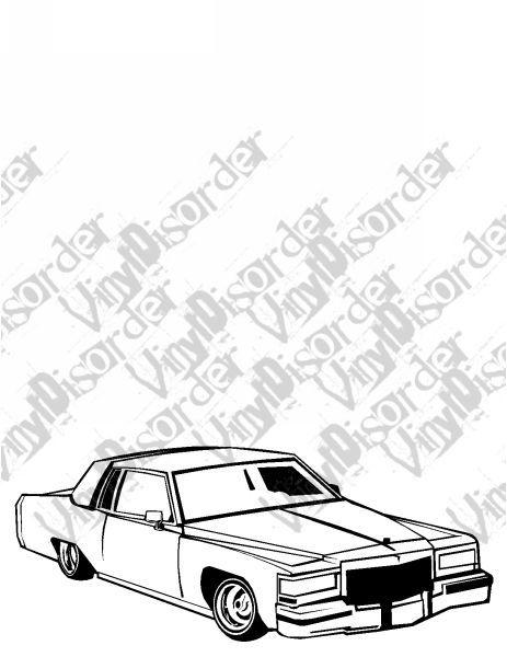 463x600 Caddillac Caddy Hydrolics Lowrider Low Rider Car Vinyl Decal Car