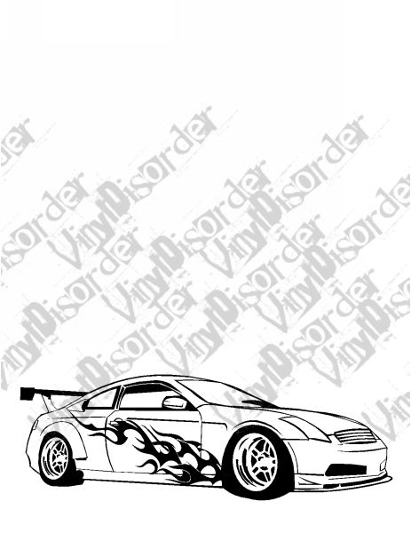 463x600 Infinty G35 2 Outlaw Tuner Rice Rocket Car Vinyl Decal Car Window