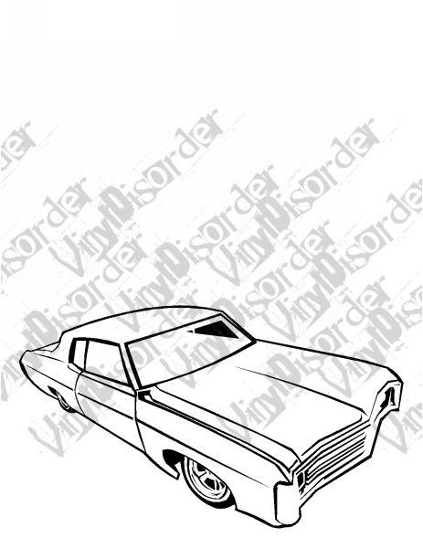 463x600 69 Impala Hydrolics Lowrider Low Rider Car Vinyl Decal Car Window