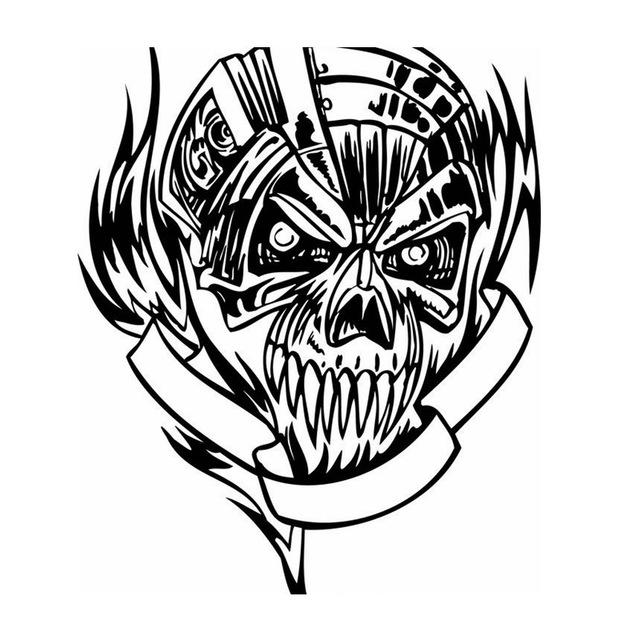 640x640 Skull Halloween Sticker Punk Death Decal Halloween Terror Devil