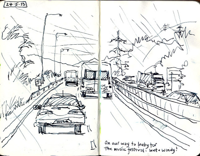 640x500 Urban Sketchers Car Window Speed Sketching Sketching