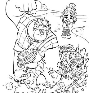 300x300 Wreck It Ralph Vanellope Coloring Pages
