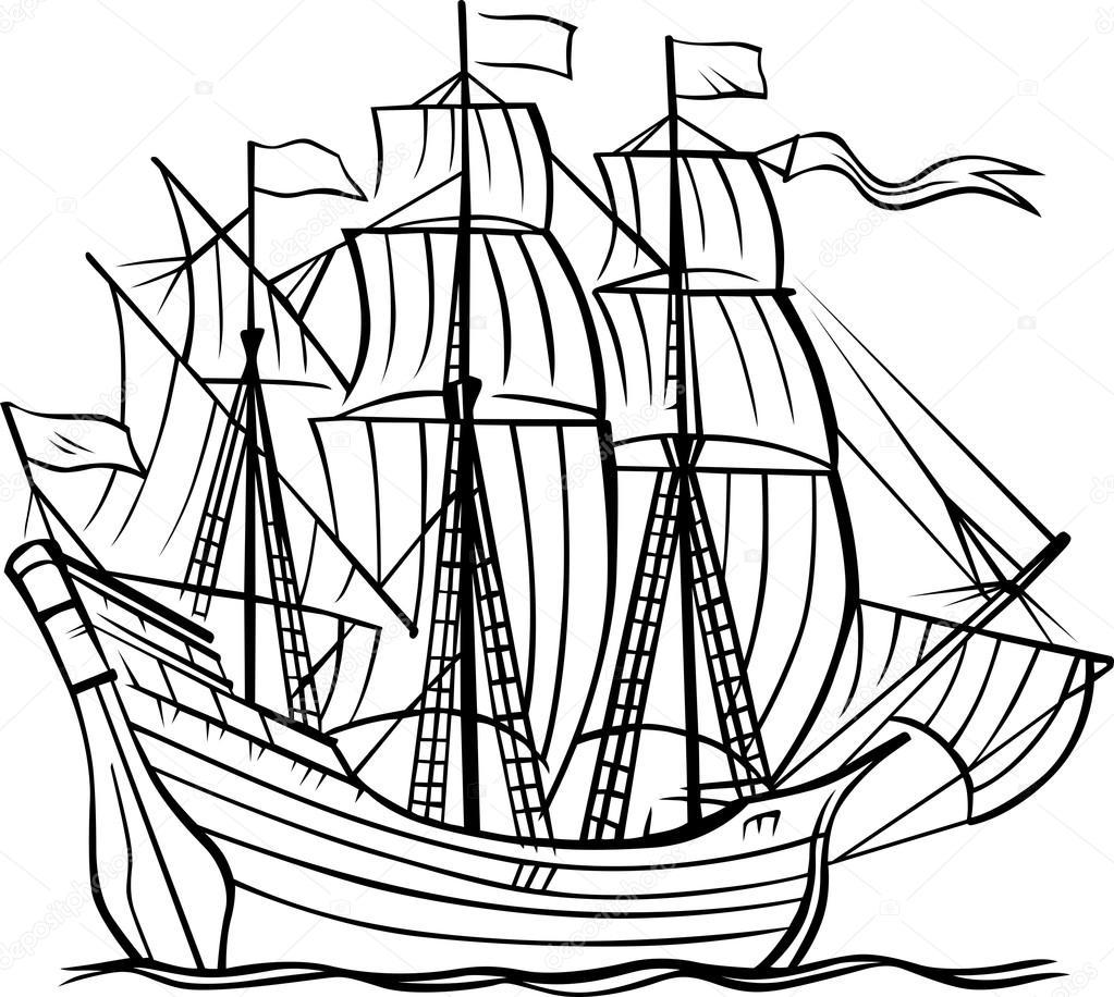 1023x916 Caravel Drawing