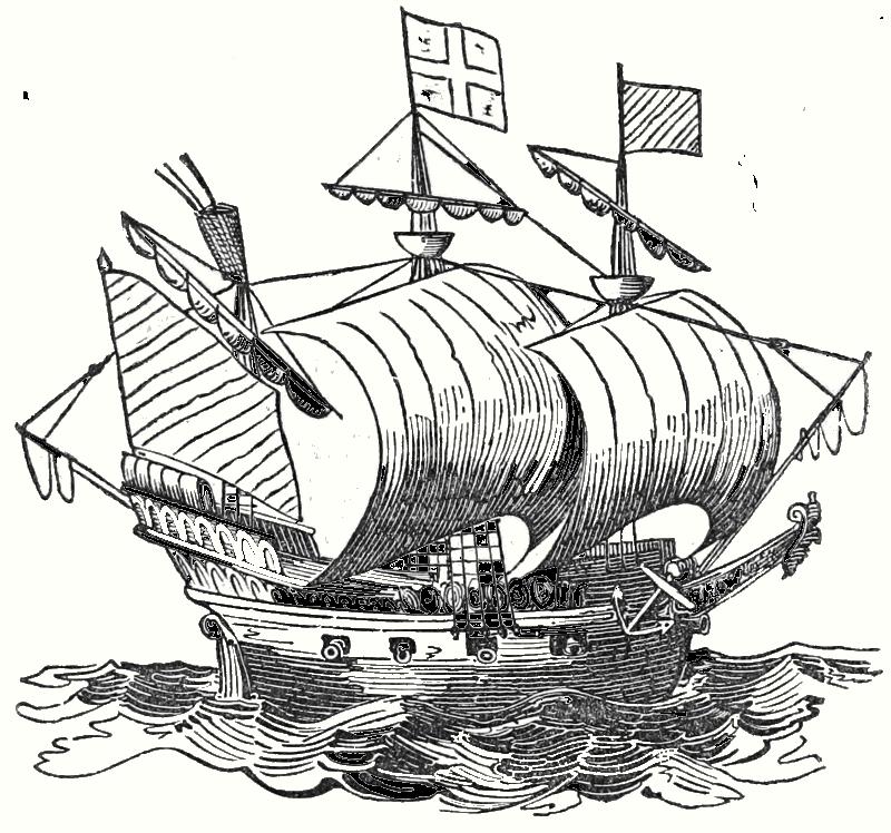 800x748 Historical Sailing Ship Drawing