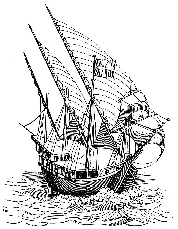 700x900 Caravel, 16th Century Photograph By Granger