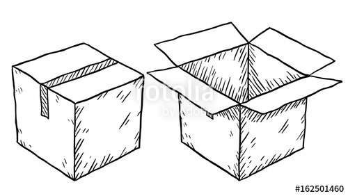 500x282 Cardboard Box Sketch Stock Photo And Royalty Free Images