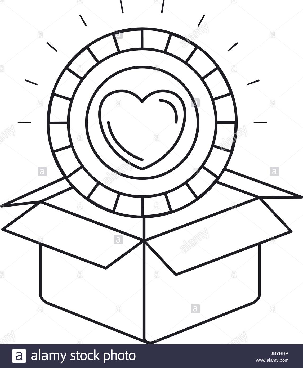 1144x1390 Silhouette Coin With Heart Shape Inside Coming Out Of Cardboard