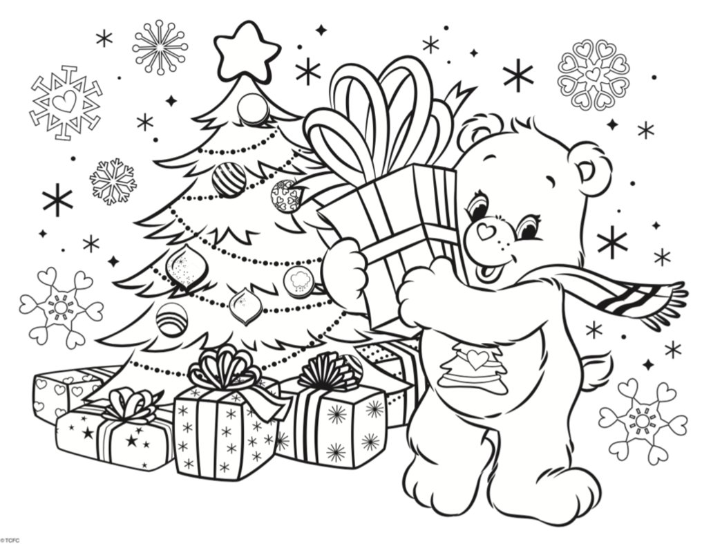 1016x787 Care Bears 2016 Winter Holiday Coloring Contest By