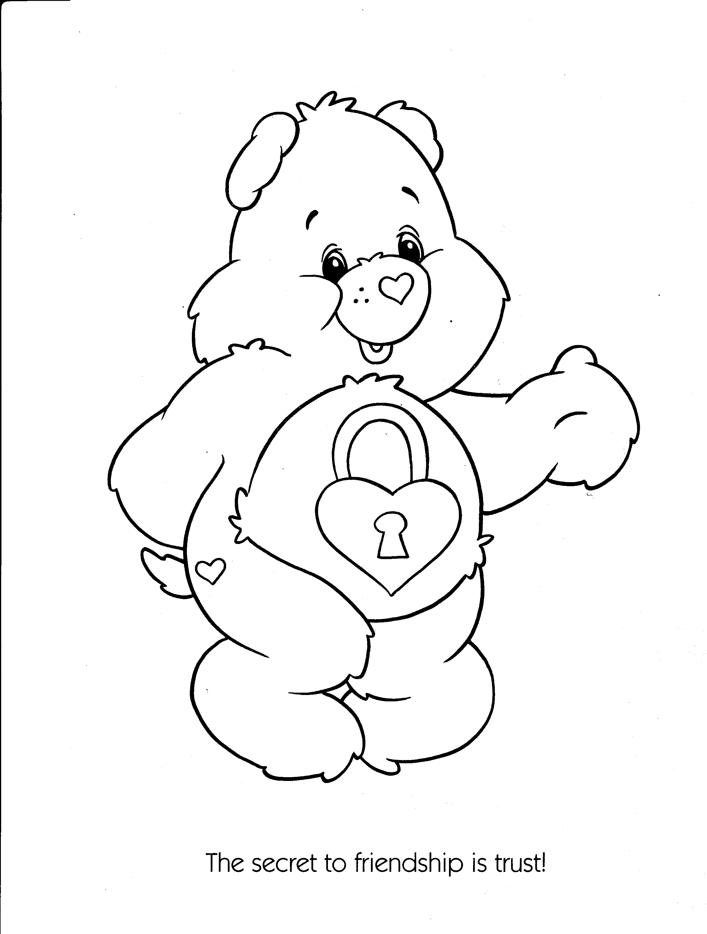 evil cear bears coloring pages - photo#12