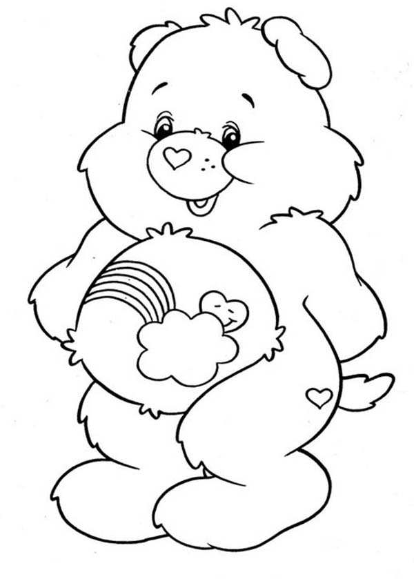 600x839 Care Bear, How To Draw Care Bear Coloring Page How To Draw Care