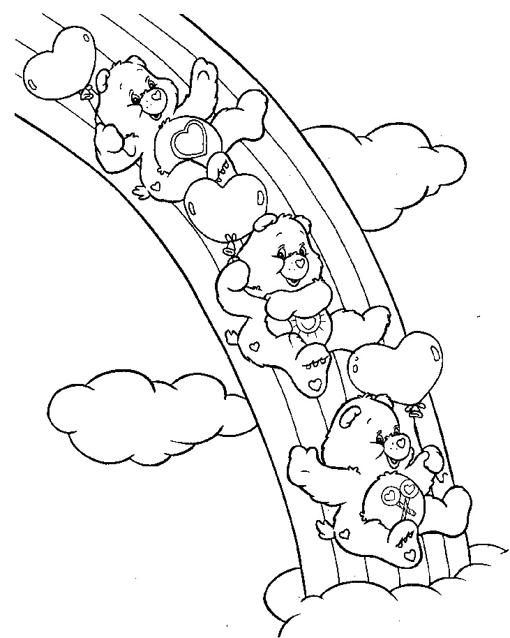 731x914 Care Bears Coloring