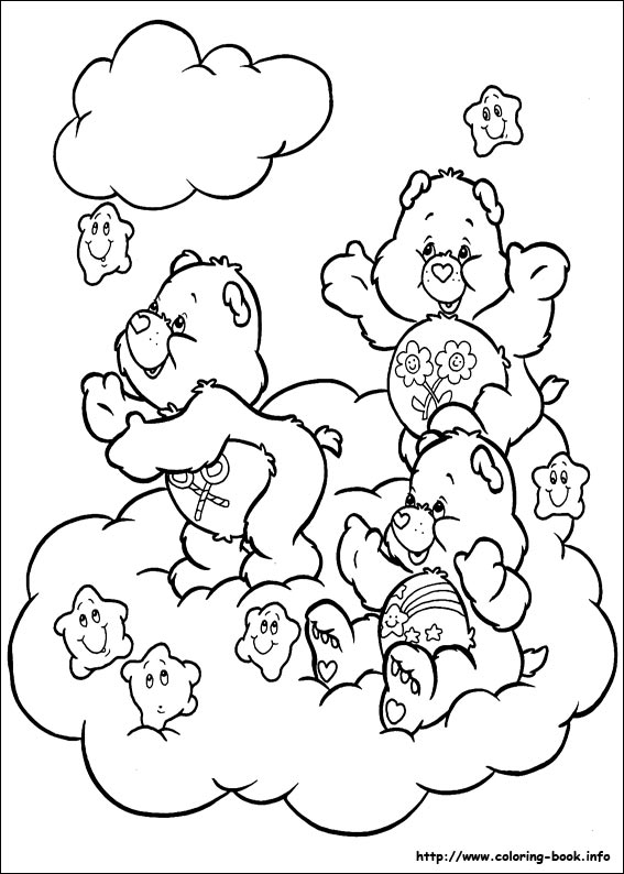 567x794 Care Bears Coloring Picture