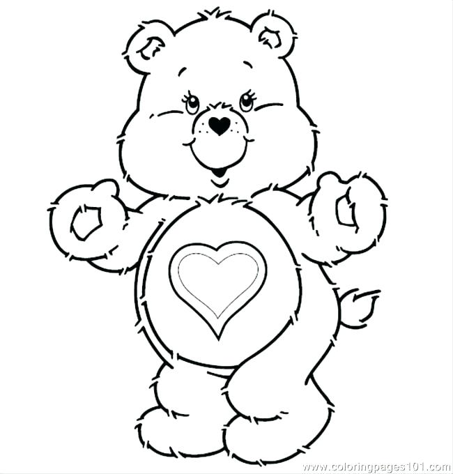 650x680 Coloring Page Of A Bear Coloring Page Bear Care Bears T Coloring