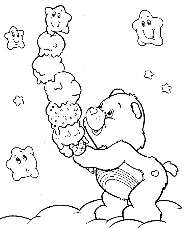 700x866 Bad Ice Cream Coloring Pages Plus Care Bear With Ice Cream