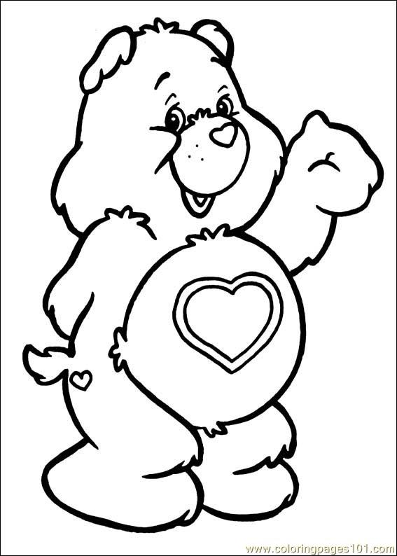 567x794 The Care Bears Coloring Pages