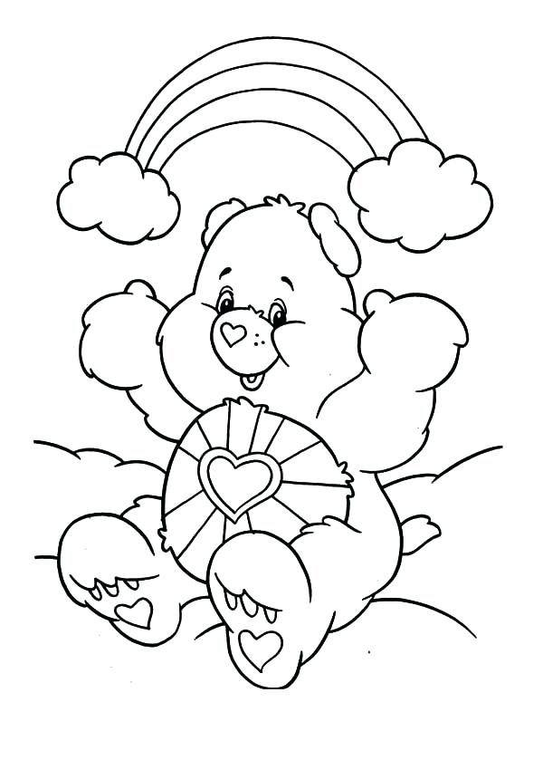 600x839 Top Rated Care Bear Coloring Pages Images How To Draw Care Bears