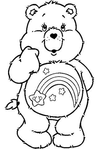 wish bear coloring pages - photo#4
